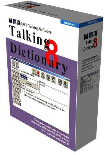 Talking Dictionary - talking dictionary, encyclopedic dictionary, dictionary, speaking dictionary, bl - Talking Dictionary and Thesaurus for Blind and Disabled Computer Users.